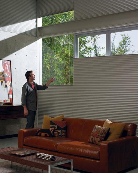 Salas de estar- Cortina Duette HunterDouglas