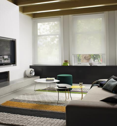 Cortinas Duette HunterDouglas para salas de estar