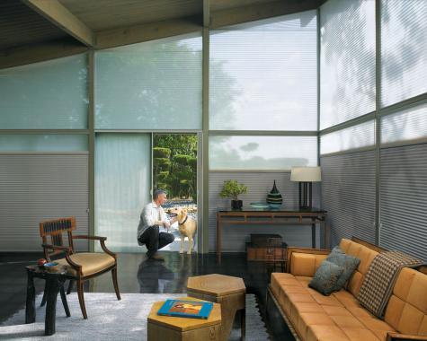 Cortina Duette HunterDouglas- espacios contemporáneos
