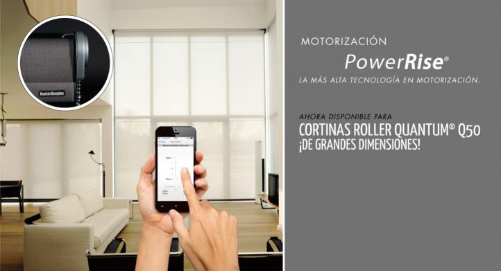 Cortina Roller Quantum Q50 con motorización PowerRise